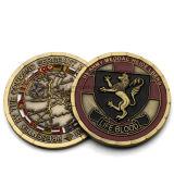 Coutume en gros 65 ans de pièce de monnaie de souvenir avec le bord spécial
