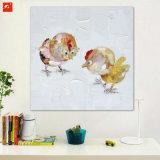 Nueva pintura al óleo de los polluelos del arte de la pared de la calle de dos pedazos