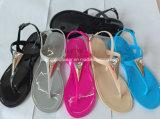 PVCゼリーの偶然の女性の水晶サンダルの靴