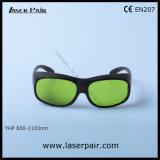 Láser Yhp Gafas de seguridad con alta densidad óptica O. D7+@1064nm y una buena transmitancia del 60% para Nd: YAG y los láseres de fibra