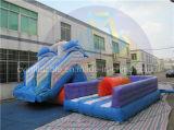 Ingroundのプールのための耐久の膨脹可能な水スライド