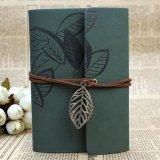 Cuaderno del espacio en blanco de las hojas intercambiables de la cubierta del cuero de la PU para Journaal Diry