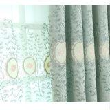 Tissu de rideau en guichet d'arrêt total de broderie de qualité (08F0049)