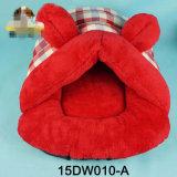 형식 디자인 개집 만화 산호 양털 애완 동물 침대