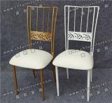 結婚式Yc-As49のための卸し売り白く、銀製のカメレオンの椅子