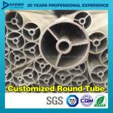 Il profilo di alluminio rotondo T5 del tubo 6063 del tubo con il laminatoio anodizzato ha rifinito