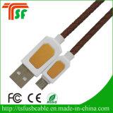 Новый кожаный USB-кабель для зарядки данных для Samsung