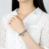 Pendente del fiocco di neve dell'annata & braccialetti & braccialetti neri dei branelli di Murano di alta qualità per i monili delle donne