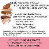 Silicone Makeup Sponge Silicone Makeup Power Puff Silica Sponge Silica Gel Makeup Powerpuff