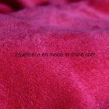 Tessuto di corallo di lavoro a maglia del panno morbido del filo di ordito con i doppi lati