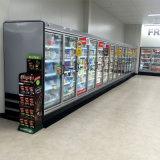 Congeladores de puerta de cristal verticales de lujo del supermercado del color