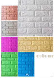 ladrillo de la pared del color 3D del papel pintado de la espuma 3D