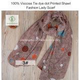 100%のビスコースタイの染料のScarf点によって印刷されるショールの方法女性