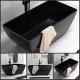 現代デザイン固体表面の黒く支えがない浴槽