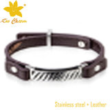 Braceletes em linha unisex do bracelete do Stingray Stlb-054 para homens