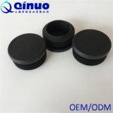 Tampas plásticas redondas pretas feitas sob encomenda dos pés da cadeira com alta qualidade