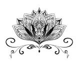 Los gráficos del loto de la manera impermeabilizan la etiqueta engomada del tatuaje del arte de la etiqueta engomada del tatuaje