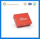 Empacotamento impresso costume da caixa de sapata do papel de embalagem (Caixa de sapata inferior da tampa)