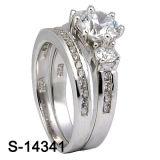 工場卸し売り方法宝石類925の銀製のカップルのリング