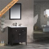 連邦機関1961Aの現代純木の浴室の虚栄心の黒の現代浴室のキャビネット