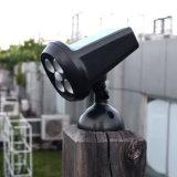 L'éclairage extérieur imperméabilisent la lumière solaire de voie de projecteur de mouvement d'énergie solaire de 4 DEL de détecteur de lampe humaine de jardin