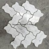 Het witte Marmeren Hexagon Mozaïek van de Straal van het Water voor Decoratie