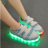 Marea de los zapatos de s de la luz fluorescente de la lámpara recargable disponible de los zapatos del USB LED de los zapatos de los deportes de los muchachos y de las muchachas del indicador luminoso de los zapatos la '