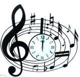 Meccanismo dell'orologio di Digitahi di stile di arte della nota di musica per la decorazione