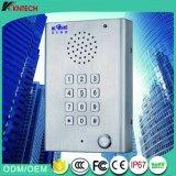 acier inoxydable robuste Téléphone d'appel mains libres Knzd-29