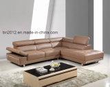 Canto moderno sofá de couro (SBL-9127)