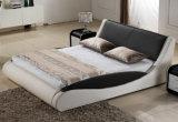 Het heet-verkoopt Bed van het Leer van de Manier Europese Witte Echte (HC552)