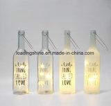 El cristal de botellas blanco caliente de la luz de las estrellas enciende para arriba el regalo encantador de las botellas sentimentales del mensaje