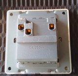 Interruttore modellato dorato 10A della parete dei due gruppi di standard britannico