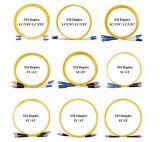 Lc-LC de Simplex Single-Mode 9/125 OS2 Kabel van het Flard van LSZH Optische
