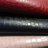 حارّة أسود أحمر نوع ذهب [بفك] [فوإكس] تمساح جلد فينيل