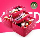 Zakken van de Make-up van de Zwerfsters van de Verkoop van de Fabrikant van Guangzhou de Hete Elegante Kosmetische met Nagels Eb884