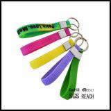 Silikon-Handgelenk-Band-Silikon Keychain Wristband-Schlüsselring-Gummischlüsselkette