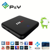 Fábrica de venda direta HD Android 6.0 3GB RAM T96 Plus IP TV Box