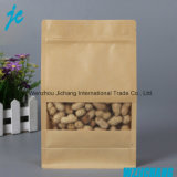 Reciclar Stand up Pouch Zip Lock Seco Biodegradável Kraft Paper Bag Food