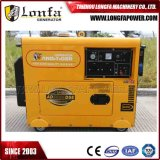 7kVA generador portable silencioso de motor diesel de 7000 vatios con comienzo eléctrico