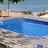 Cubierta de madera compuesta al aire libre modificada para requisitos particulares europea de WPC para la piscina