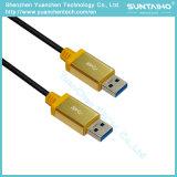 USB3.0コンピュータのための男性USBケーブルへの男性