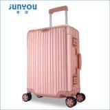 2017 Junyou нового продукта 100% алюминия 4 колеса 2PCS тележка багажа для поездок