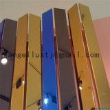fini 201 du miroir 8k couleur Ti-D'or de feuille décorative de l'acier inoxydable 304 316