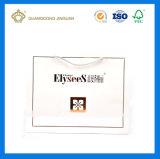 Bolsa de papel de encargo blanca de fabricación de China (con insignia de la hoja de oro)