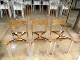 De moderne Gouden Stoelen van het Metaal Napoleon van de Troon Koninklijke voor Huwelijk
