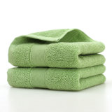 6 kleuren 100% Katoenen Reeks van de Handdoek (gezichtshanddoek + badhanddoek)
