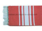Baumwolle 100% Streifen gesponnener Pareo/Fouta Strand Towe 140GSM (FT04)