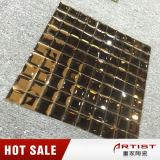 Klassisches Brown-Farben-Spiegel-Glasmosaik-glänzendes Mosaik-Fliese-Blatt