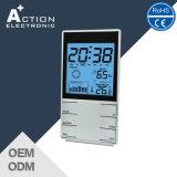온도 동향과 습도를 가진 다기능 실내 기상대 시계